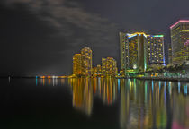 Miami At Night by Carolyn Cochran