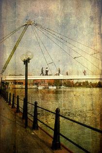 Die Nesse-Brücke in Leer von Mathias May