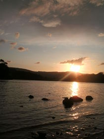 Sunset Over Derwent Water by Charlotte Gorzelak