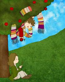 Newton and the apple by Alejandra Ramirez