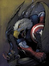 Captain America vs. Batman von Brian Allen