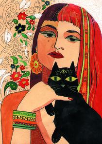 Black cat by Inna Vinchenko