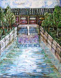 palace,bridge by Myungja Anna Koh