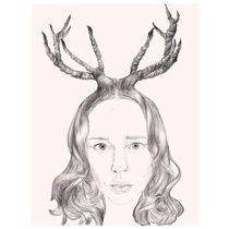 Girl With Horns Of Hair by Karin Idering