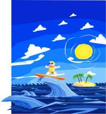 Yay! I am surfing von Jaroslaw Wasilewski