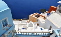 Beautiful View from Santorini Oia by Katerina Vorvi