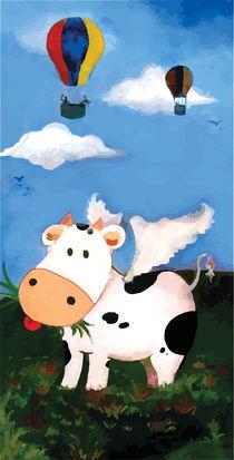 Ltlle fluing calf by Felipe Blanc