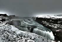 Gulfoss in the snow by Simeon Jones