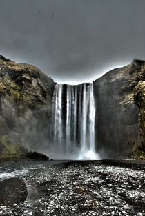Skogafoss Waterfall, Iceland by Simeon Jones