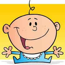 Happy Baby Boy Cartoon Character  von hittoon