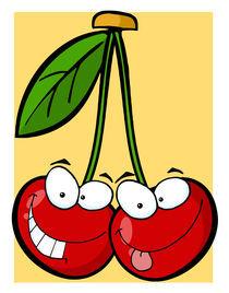 Red Cherry Mascot Cartoon  von hittoon