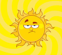 Cartoon Lowering Sun Shining  von hittoon