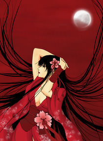 'Red Moon Geisha' by eternal-s