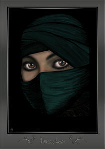 Tuareg Eyes (framed) von Sven K.