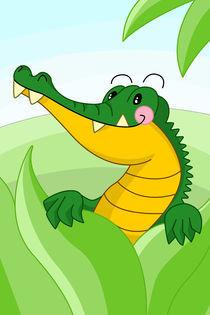 Krokodil fürs Kinderzimmer von Michaela Heimlich