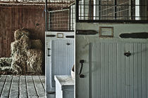 Rustic stable doors and interior. by John Greim