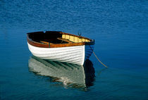 Rustic wooden row boat, Cape Cod, USA by John Greim