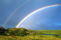 Double rainbow, County Clare, Ireland by John Greim
