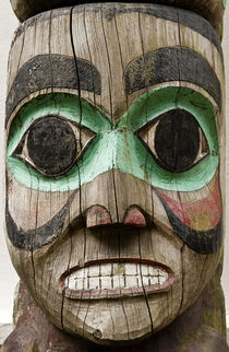 Totem Pole Detail, Alaska, USA by John Greim