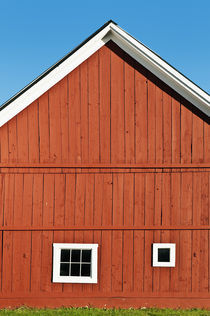 Rustic red barn, Vermont, USA by John Greim