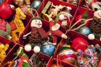 Christmas tree ornaments and decorations. by John Greim
