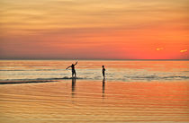 Boogie Board Sunset by John Greim