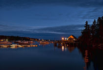 Harbor at night, Maine, USA by John Greim