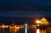 Bass Harbor at night, Bernard, Maine, USA by John Greim