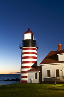 West Quoddy Head Light , Lubec, Maine, USA von John Greim