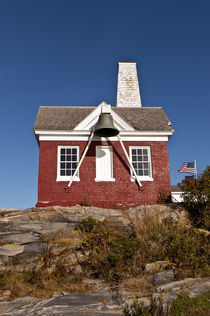 Pemaquid Point Lighthouse Fog Bell House, Maine, USA by John Greim