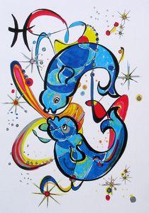 Sternzeichen - Fische by Dieter Holzner