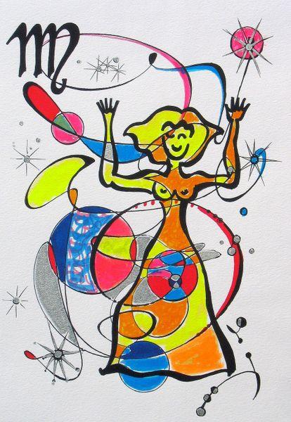 sternzeichen jungfrau malerei als poster und kunstdruck von dieter holzner bestellen. Black Bedroom Furniture Sets. Home Design Ideas