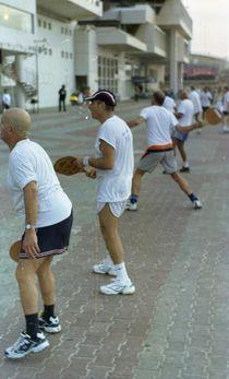 Matkot Players in Tel Aviv by sannekurz
