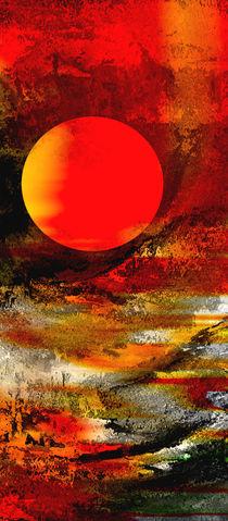 Abstraktion Mond by Matthias Rehme