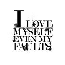 I love myself even my faults by Bianca creations