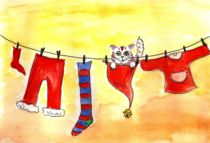 Christmas Clothesline by Katri Ketola