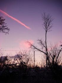 railroad pink cloud 2 von Gabriele  Nolte
