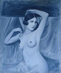 Women Blue Vintage von Wioleta Norowska