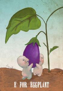 """""""E for Eggplant"""" von Koanne Ko"""