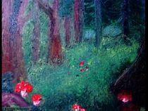 Waldlichtung mit Pilzen by Kerstin Schuster