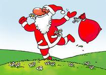 Santa is running in field of flowers von Gatis Sluka