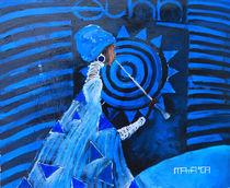 Ethno concert in blue von Maya Manolova
