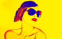 Pop Art woman by Jozef Zidarov