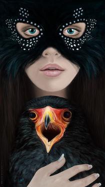 Girl with Eagle von Masoud Rezaeipoor