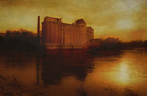 old mill in golden light von Franziska Rullert