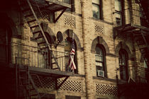 AMERICAN FLAG FIRE ESCAPE by Darren Martin