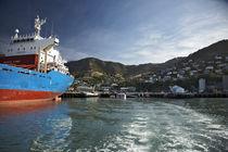 Lyttenton harbor New Zealand South Islandd von michal gabriel