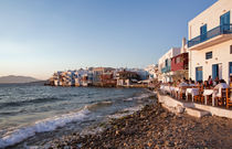 Mykonos Town at Sunset by Colin Miller