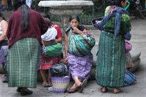 Women in Huipiles, Antigua Guatemala by Charles Harker