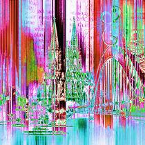 Köln Skyline Collage by Städtecollagen Lehmann